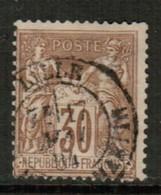 FRANCE   Scott # 82 F-VF USED (Stamp Scan # 441) - 1876-1898 Sage (Type II)