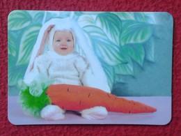 CALENDARIO DE BOLSILLO CALENDAR RABBIT LAPIN LIÈVRE HARE HASE LIEBRE CONEJO RABBITS CONEJOS NIÑO DISFRAZADO BOY CHILD VE - Calendarios
