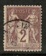 FRANCE   Scott # 88 VF USED (Stamp Scan # 441) - 1876-1898 Sage (Type II)