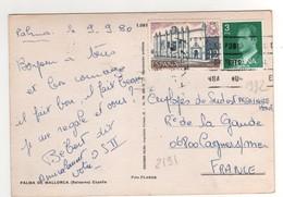 Timbre , Stamp Yvert N° 1992 , 2191 Sur CP , Carte , Postcard Du 09/09/1980 Pour La France - 1931-Aujourd'hui: II. République - ....Juan Carlos I