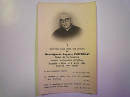 FAIRE-PART De Décès De  Monseigneur Auguste  COSTEDOAT  Ancien Archiprêtre D'ORTHEZ  1963   XXX - Décès