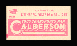 FRANCE CARNET N° 1263-C1 Decaris (II) Série 02-62. Carnet De 8 Timbres. Neuf **. Pub Calberson. Cote Yvert 50 €. TTB - Carnets