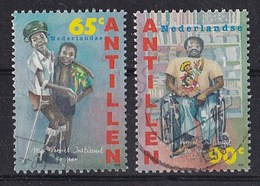 Nederlandse Antillen - 50 Jaar Mgr. Verriet Instituut - Gebruikt - NVPH 1083-1084 - Curaçao, Nederlandse Antillen, Aruba