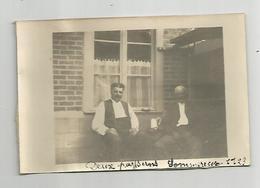 Photographie 60 Oise Sommereux Deux Paysans 1923  Photo   Collée Sur Papier 7x11 Cm Env - Places
