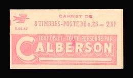 FRANCE CARNET N° 1263-C1 Decaris (II) Série 05-62. Carnet De 8 Timbres. Neuf **. Pub Calberson. Cote Yvert 50 €. TTB - Booklets