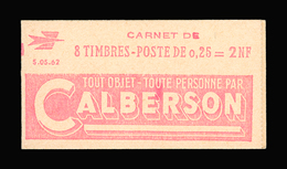 FRANCE CARNET N° 1263-C1 Decaris (II) Série 05-62. Carnet De 8 Timbres. Neuf **. Pub Calberson. Cote Yvert 50 €. TTB - Carnets