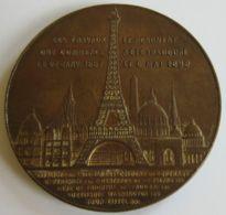 M02063 SOUVENIR DE L'ASCENCION AU SOMMET DE LA TOUR EIFFEL (1889)  (40 G.) Vue Comparative Au Revers - Professionnels / De Société