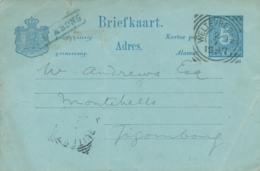 Nederlands Indië - 1897 - Langstempel GOMBONG Als Aankomststempel Op Briefkaart Uit VK Weltevreden - Indes Néerlandaises