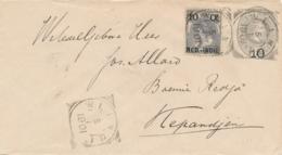 Nederlands Indië - 1901 - 10 Op 12,5 Cent Willem III, Envelop G10 Van VK WLINGI Naar Langstempel KEPANDJEN - Nederlands-Indië