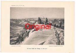 260 Valluga Bergsteiger Lechtaler Alpen Kunstblatt 1902 !! - Historical Documents