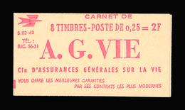 FRANCE CARNET N° 1263-C1 Decaris (II) Série 02-63. Carnet De 8 Timbres. Neuf **. Pub Calberson. Cote Yvert 50 €. TTB - Carnets