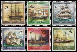 Papua-Neuguinea 1988 - Mi-Nr. 565-566 & 580-583 ** - MNH - Schiffe / Ships - Papouasie-Nouvelle-Guinée