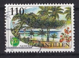 Nederlandse Antillen - 50 Jaar Avila Beach Hotel - Strandgezicht Met Flamboyant - Gebruikt - NVPH 1250 - Curaçao, Nederlandse Antillen, Aruba