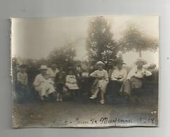 Photographie St Saint Jean Sur Mayenne 1918  Photo  Collée Sur Papier 8x11 Cm Env - Places