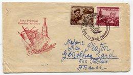 RC 11282 ROUMANIE 1963 LETTRE POUR LA FRANCE TIMBRES AU VERSO - 1948-.... Républiques