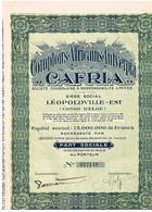 """Action Ancienne - Comptoirs Africains Antverpia """"CAFRIA"""" - Titre De 1928 - N° 017148 - Afrique"""
