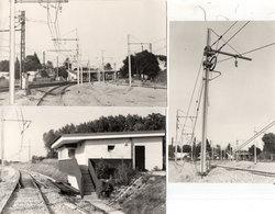 LA GRAVE D' AMBARES - 3 Photos - Fin De L' Electrification Du Raccordement  - Photo Pierre Gontier (111059) - Frankreich