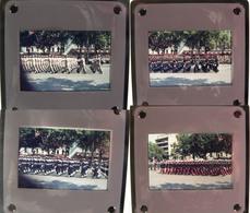 DEFILE MILITAIRE PARIS 14-07-1975 - Série De 24 Diapos - Diapositives