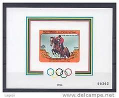 YEMEN SUD Bk20 Olympiques Los Angeles - Summer 1984: Los Angeles