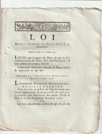 Loi Relative A L'évaluation Des Bois, Forêts Et Tourbières. - Decrees & Laws
