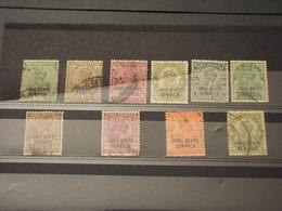 JIND -  - SERVIZIO - 1927/38 RE 10 VALORI - TIMBRATI/USED - Jhind