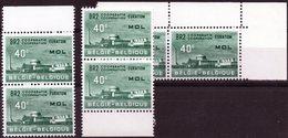 1961 - EURATOM MOL - N° 1195 V1 + V2 + V3 Neufs Sans Charnières - MNH - Errors (Catalogue COB)