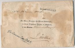 156/28 - PAYS BAS - Enveloppe En Franchise De Port - 98 Exemplaren - S'GRAVENHAGE à ZWOLLE - Gen. Directie Belastingen - ...-1852 Voorlopers