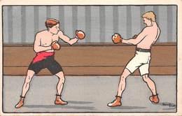 BOXE Illustrateur Harry ELLIOT - Boxing