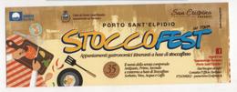 Seg080 Segnalibro Signet Bookmark Marque Pages Turismo Gastronomia Food Cibo Stoccafisso Cod Fish Porto Sant'Elpidio - Segnalibri