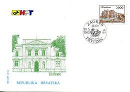 CROATIE. N°195 De 1993 Sur Enveloppe 1er Jour (FDC). Karlovac. - Croatia