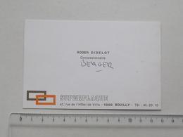 BOUILLY (10): Publicité Ancienne Carte De Visite SUPERPLAQUE - Roger DIDELOT Concessionnaire - Publicités