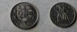 Portugal 2,5  Escudos 1977  Km#590  -        Ttb - Portugal
