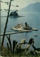 GREECE - CORFOU / CORFU - ULYSSE ISLE AND MONASTERY OF THE VLACHERNES - VINTAGE POSTCARD - 1960s (BG2039) - Greece