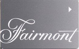CANADA KEY HOYEL   Fairmont - Hotel Keycards