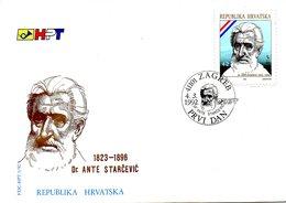 CROATIE. N°151 De 1992 Sur Enveloppe 1er Jour (FDC). Ante Starcevic. - Croatia