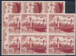 CK-192:FRANCE: Lot  Avec PA N° 28** (bloc De 6- 2 Blocs De 4) - Airmail