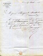 PARIS.J.SAILLOFEST NEGOCIANT EN METAUX 22 RUE DES QUATRES FILS. - 1800 – 1899