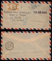 NOUVELLE CALEDONIE - NOUMEA / 1948 LETTRE AVION POUR LA FRANCE - LA FRETTE (ref LE3073) - Nouvelle-Calédonie