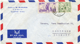 (e1019) Brief Syrien St. Aleppo N. Solingen - Syria