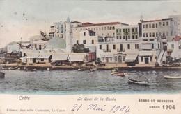 GRECE / CRETE / LE QUAI DE LA CANEE / BONNE ANNEE 1904 / NON DIVISEE - Greece