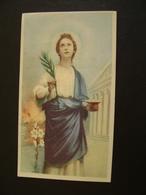 SANTA LUCIA  VERGINE       IMAGE PIEUSE ANCIENNE   SANTINO HOLYCARD CONDIZIONI FOTO - Devotion Images