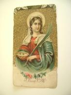 SANTA LUCIA        IMAGE PIEUSE ANCIENNE   SANTINO HOLYCARD CONDIZIONI FOTO - Devotion Images