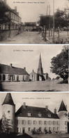 CPA 03 Allier Le Theil Château De Lavelatte Ou La Velatte Place De L'église Avenue - France