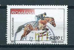 2001 Romania Paard,pferde,horses Used/gebruikt/oblitere - 1948-.... Republieken