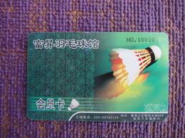 Badminton Club Membership Card - Phonecards