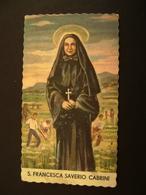 S. FRANCESCA SAVERIO CABRINI     IMAGE PIEUSES   SANTINO HOLY CARD  COME DA  FOTO - Devotion Images