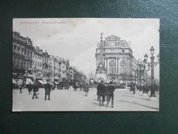 CPA BELGIQUE BRUXELLES PLACE DE BROUCKERE ANIMEE - Squares