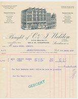 Factuur / Brief London 1925 - Weldon - Cottons - Linens - Silks - Velvets - Verenigd-Koninkrijk
