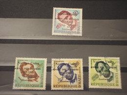 HAITI - 1959 RIFUGIATI/LINCOLN 4 VALORI - TIMBRATI/USED - Haiti