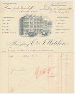 Factuur / Brief London 1907 - Weldon - Cottons - Linens - Silks - Velvets - Verenigd-Koninkrijk